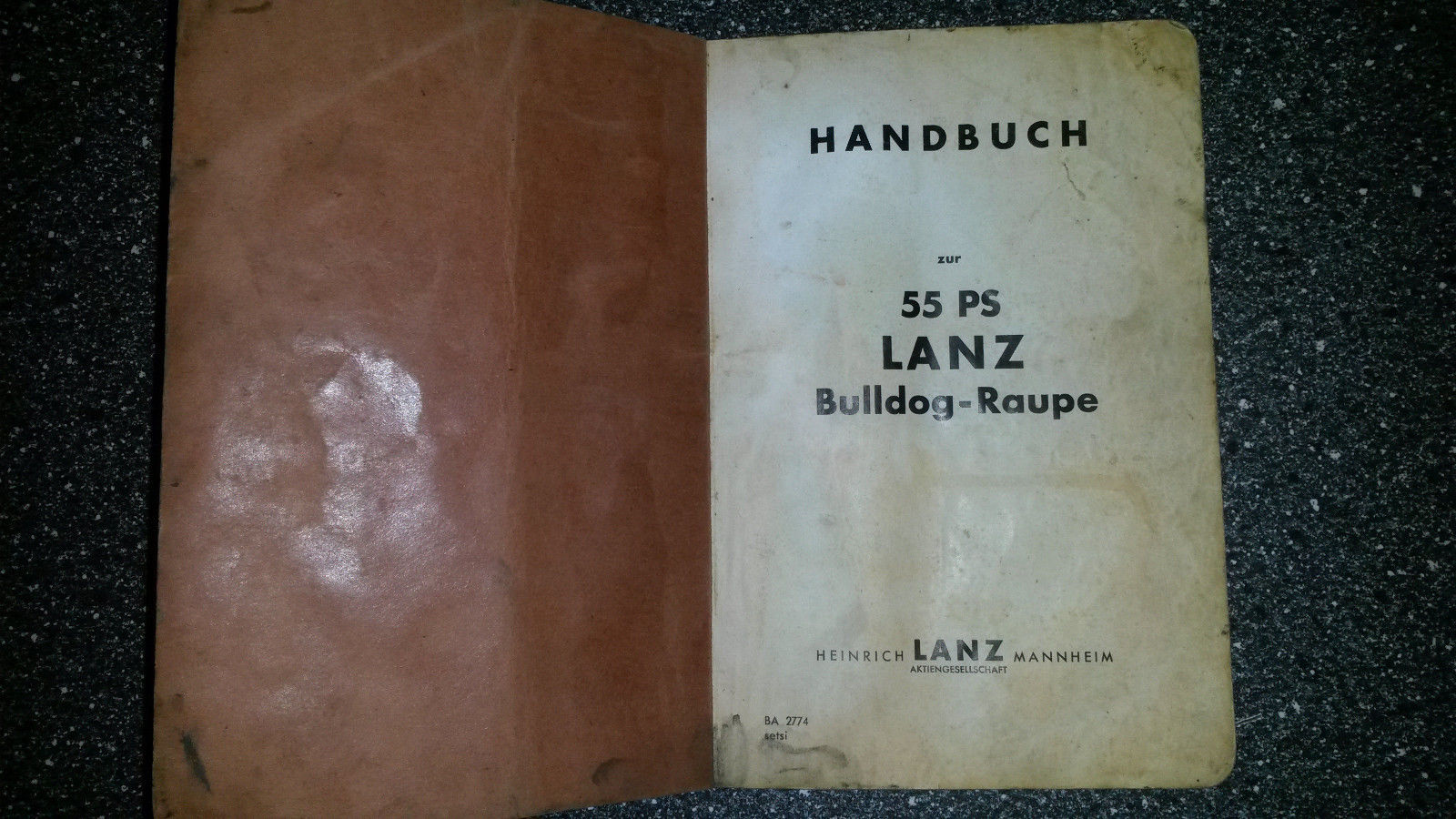 Handbuch Betriebsanleitung Lanz Bulldog Raupe Original