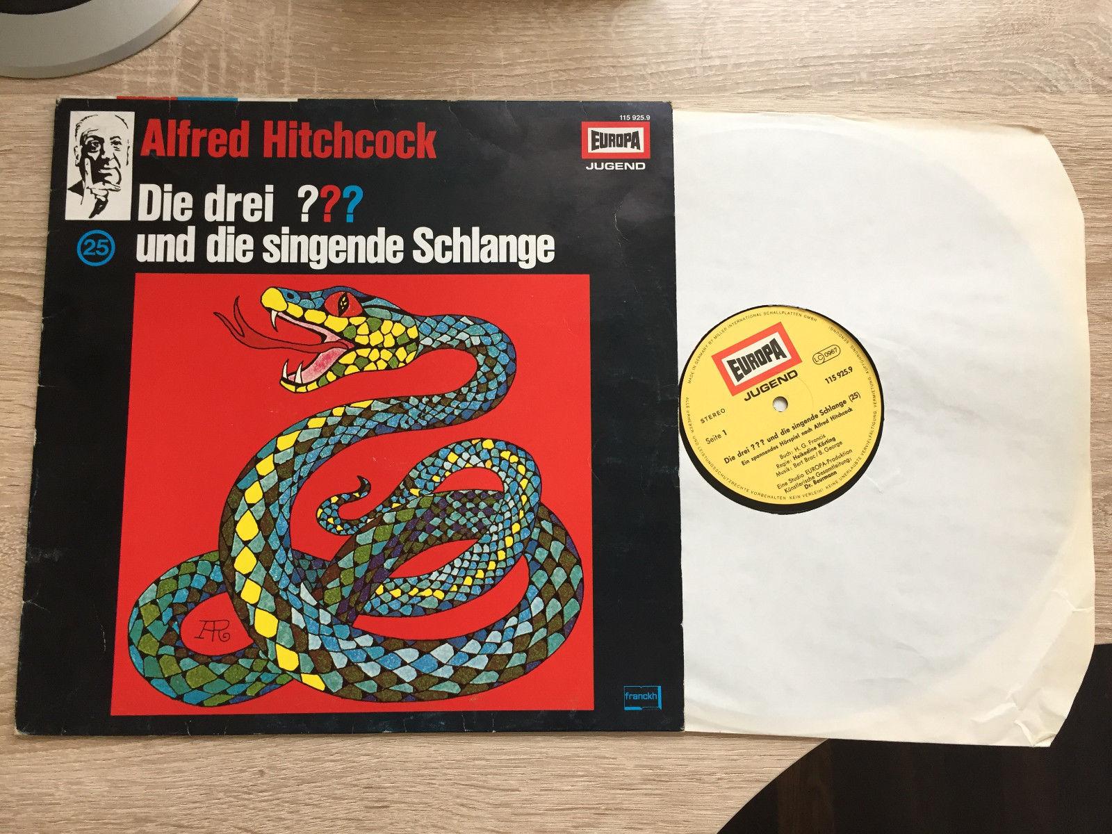 Die Drei Fragezeichen und die singende Schlange Vinyl Original 25 LP Europa 1980