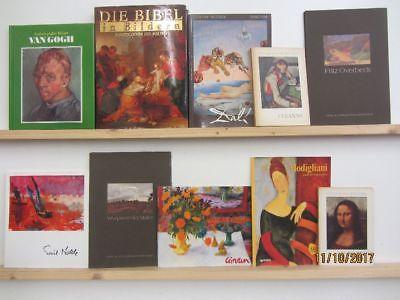 50 Bücher Bildbände Maler Malerei Künstler Gemälde van Gogh Dali Modigliani u.a.
