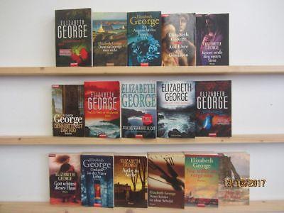 Elizabeth George 16 Bücher Romane Krimi Kriminalromane Thriller Psychothriller