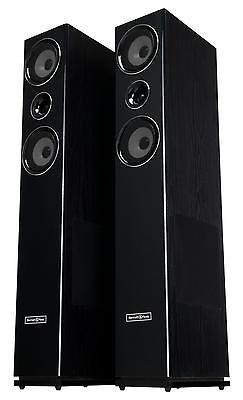 Paar 3-wege HiFi Home Cinema Stand Lautsprecher Bass Subwoofer Boxen Set 600W