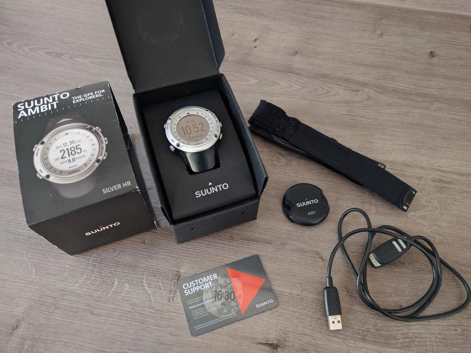 Suunto Ambit silver HR GPS Uhr Sportuhr Laufuhr Navigation Wandern