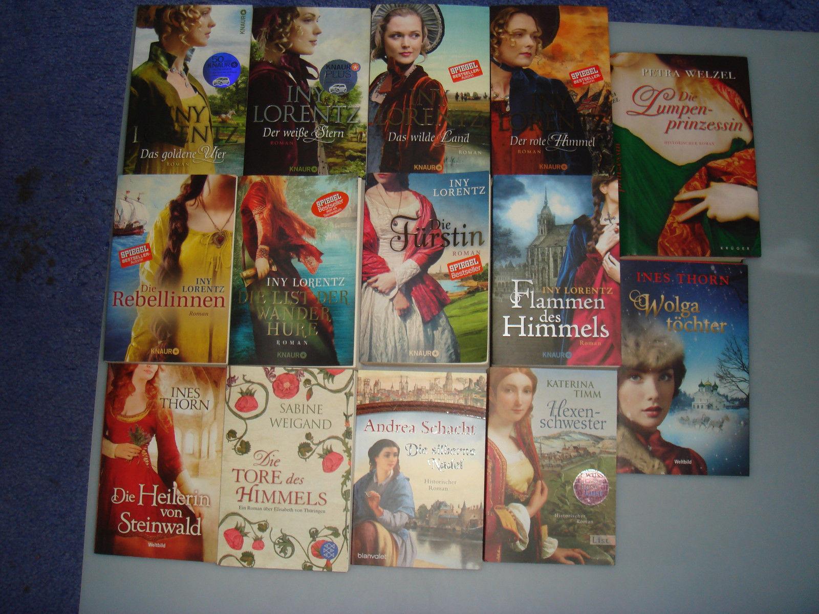 14 x Historische Romane Bücherpaket Taschenbuch-Lorenz-Schacht-Thorn-Weigand usw