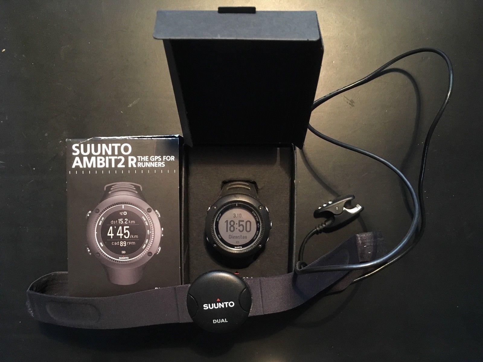 Suunto Ambit2 R Black mit HR-Brustgurt