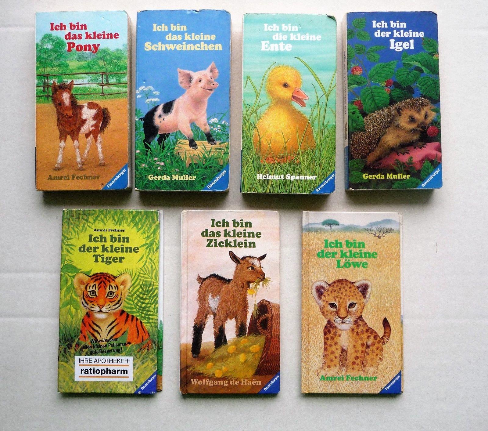 7 Bücher Ich bin der kleine Tiger Löwe Igel die kleine Ente das kleine Pony...