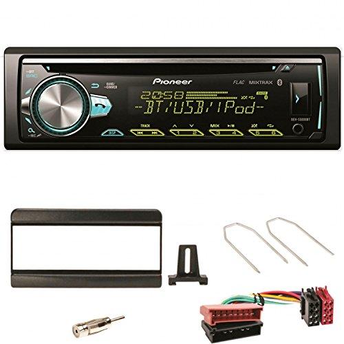 Pioneer DEH-S5000BT Autoradio USB AUX 1-DIN MP3 Bluetooth FLAC Einbauset für Focus Fiesta Puma Mondeo