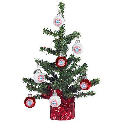 FC Bayern München Weihnachtsbaum Christbaum mit Weihnachtsbaumkugeln