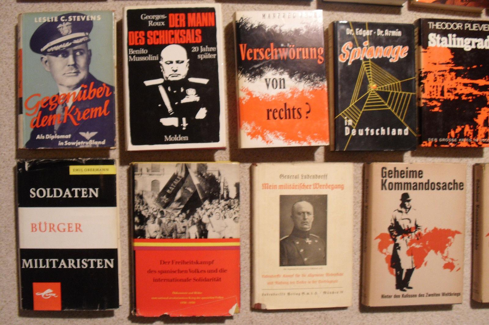 Ca. 30 Militärische Bücher, Militärstrategie, 1. + 2. Weltkrieg, Kalter Krieg !!