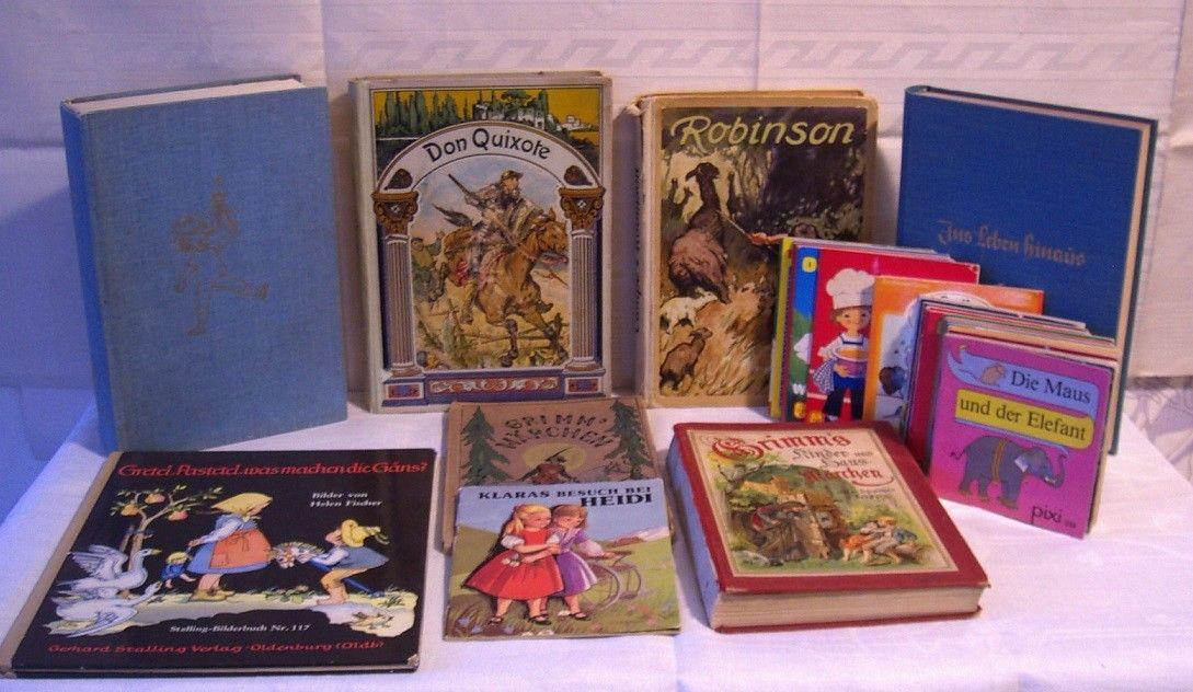 Konvolut/Sammlung Kinderbücher 7 Bücher+24 Minibücher Pixi u.a. um 1900 bis 1985