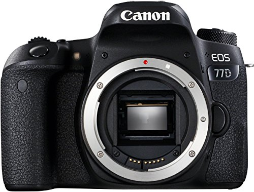Canon EOS 77D Gehäuse SLR-Digitalkamera (24,2 MP, 7,7 cm (3 Zoll) Display, APS-C CMOS Sensor, Full HD) schwarz
