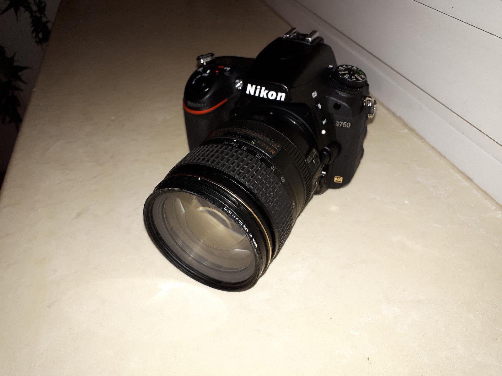 Nikon D750 24.3MP Digitalkamera - Schwarz (Kit mit AF-S VR 24-120mm Objektiv)