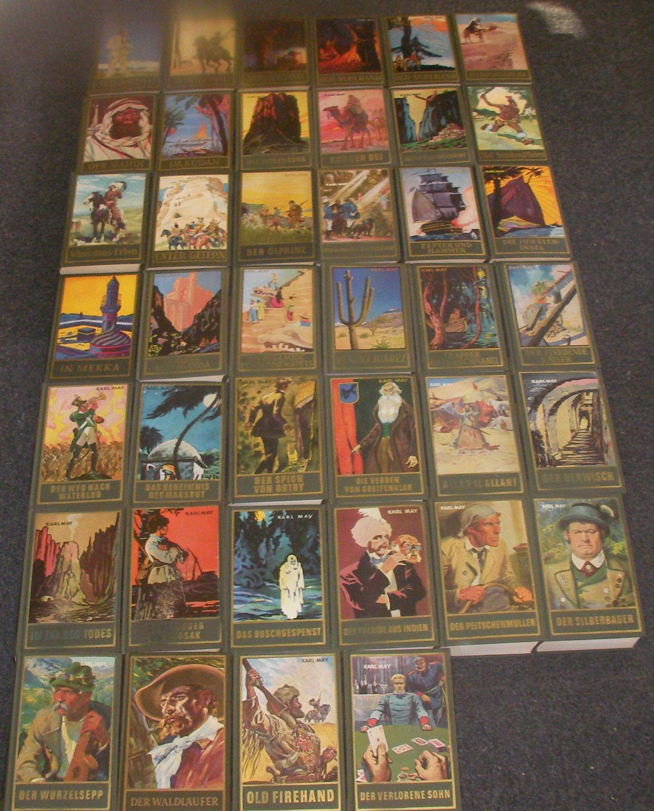 Sammlung! 40 Karl-May-Bücher Bamberg gebunden die Echten