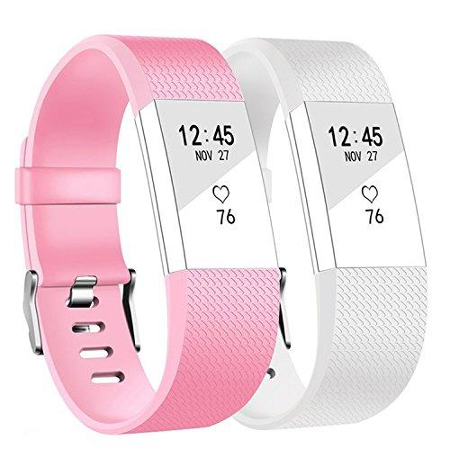 Ersatz Fitbit Charge 2 Armbänd 2 Pack, BeneStellar Ersatz Klassisch Armband für Fitbit Charge 2 (2 Pack Color 3, Small 5.7