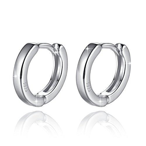 Fashmond Doppel Creolen aus 925 Sterling Silber - Leicht Design Für Frauen Kinder Mädchen Herren - Muttertagsgeschenke Valentinstag Geschenke Weihnachtsgeschenk