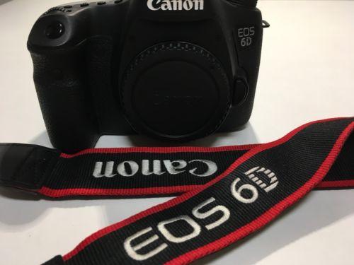 Canon EOS 6D 20,2 MP, Body, Vollformat + Canon E2 Handschlaufe + Zubehörpaket