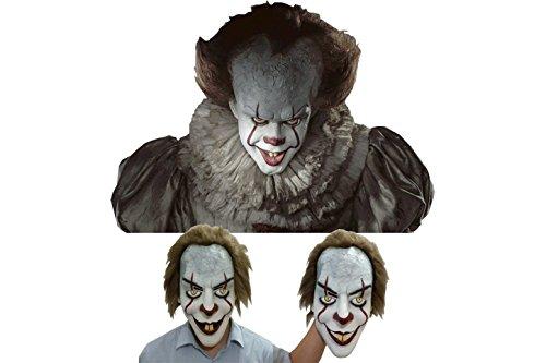 Kartex ES Maske/ Clown Maske - Hochwertige und passgerechte Horror Clown Maske für Halloween und Karneval aus 100% Latex (1 Pennywisemaske)