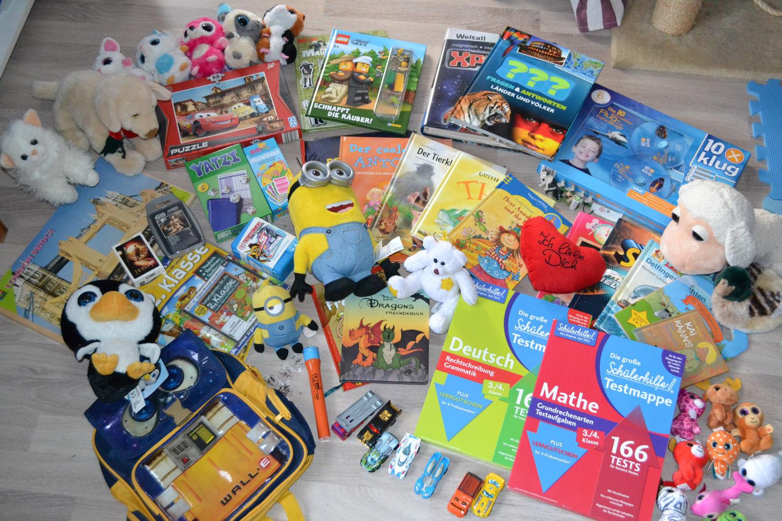 Großes Paket inkl. Kinderbücher + Spiele + Puzzel + Küscheltier