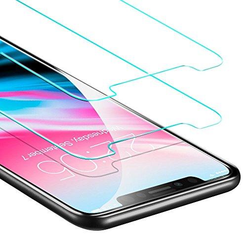 iPhone X Panzerglas, iPhone 10 Panzerglas [2 Stück] ESR iPhone X 10 Schutzfolie 5.8 Zoll Premium 9H, 5-Mal Verbesserte Gehärtetes Glas, [Blasenfrei Kit], [3D Touch], Anti-Fingerabdruck