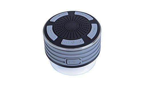 grandey F013Tragbarer Bluetooth Wireless Lautsprecher IP67Wasserdicht, staubdicht, stoßfest Wireless Bluetooth Stereo Lautsprecher Integriertes Mikrofon für Freisprecheinrichtung mit FM-Radio und mehrere Farbe LED-Licht Funktionen