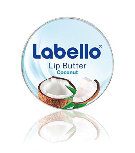 Labello Lip Butter Coconut / zart schmelzende Lippenbutter im 3er-Pack (3 x 16,7 g) / hochwertige Lippencreme mit Kokosnuss-Aroma zur intensiven Lippenpflege / Lippenbalsam mit Sheabutter und Mandelöl
