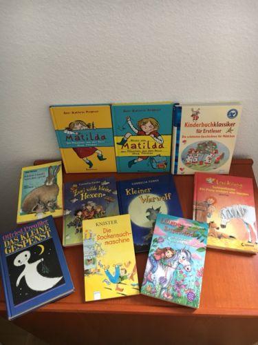 Bücherpaket 10 Kinderbücher Erstleser, ab 8 Jahre o. zum Vorlesen z.T. NEU