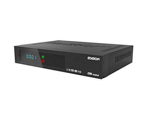 Edision OS mini Full HD Twin-Satelliten-Receiver (2x DVB-S2, WLAN onboard, 2x USB, HDMI, LAN, Linux, Kartenleser) schwarz