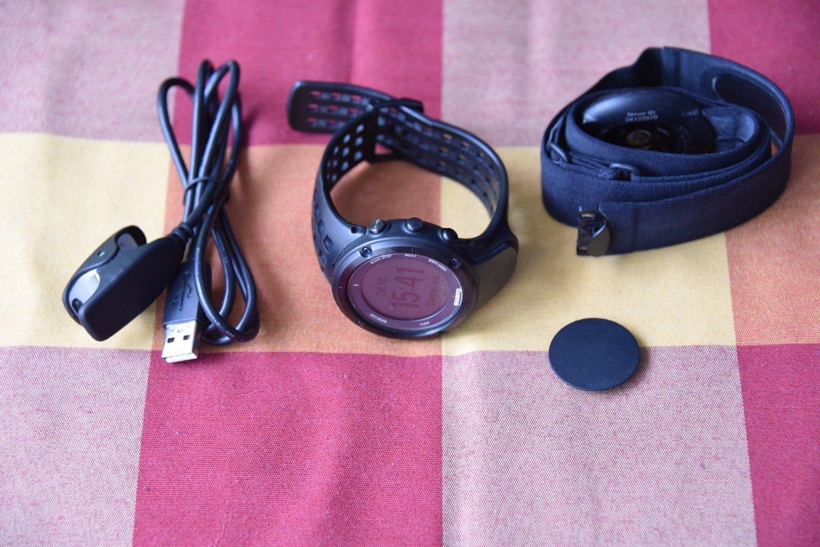 Suunto Ambit2 Black Schwarz mit HR Brustgurt GPS Navigationsuhr Laufcomputer