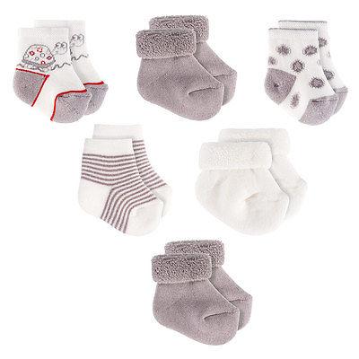 Baby Erstlings Socken / Babysöckchen 6er Pack 6 Paar / Schildkröte - 0-3 Monate