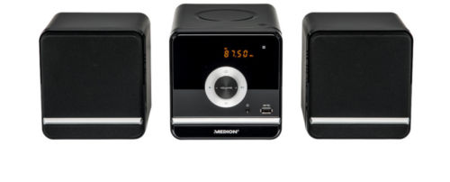 MEDION LIFE P64102 MD 84497 Micro-Audio-System CD/MP3 USB FM Radio 2x 50 Watt