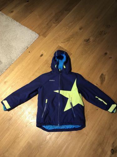 Jako-o Kinder Schneejacke (Winterjacke) Stern Gr 128/134 dunkelblau