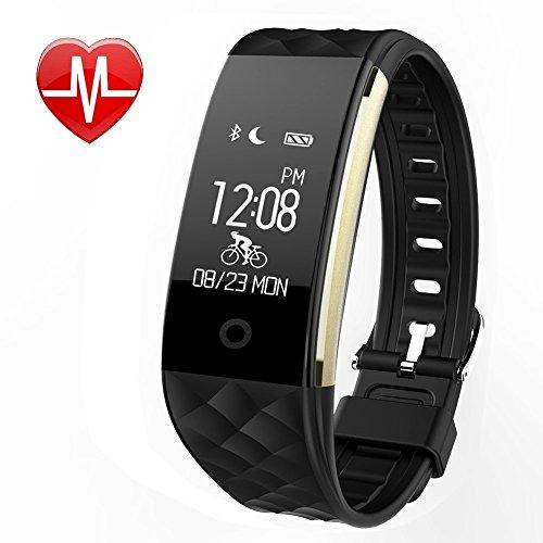 Fitness Tracker mit Pulsmesser , Fitness Armbänder mit Schrittzähler,Schlafmonitor Touchscreen und Kalorienzähler /Vibrationsalarm Anruf SMS Whatsapp Für Android/ iOS Telefonkompatibel