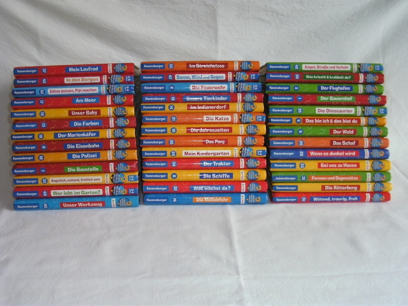 15 Wieso Weshalb Warum Junior Bücher Aussuchen Sammlung Paket  2 - 4 Jahre