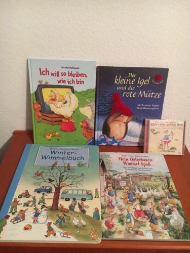 Kinderbücher Paket Wimmelbuch(2) & Bilder-/Vorlesebuch(2) & CD & Bastelheft