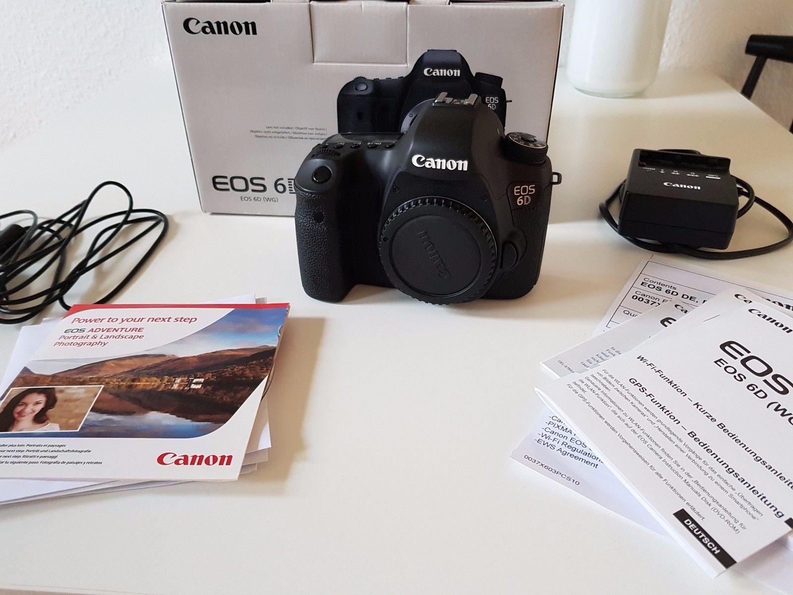 Canon EOS 6D 20,2 MP SLR-Digitalkamera (Body) Sehr guter Zustand Wie Neu