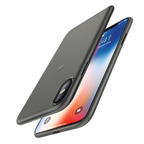 iPhone X Hülle Case, [Unterstützt kabelloses Laden (Qi)] EasyAcc Ultra-Dünn 0.45mm PP Handyhülle Cover Anti-Kratzer Schutzhülle leichter Schutz Tasche für iPhone X - halbtransparentes Weiß