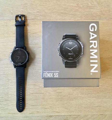 Garmin Fenix 5S schwarz Sapphire Edition mit Garantie