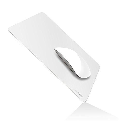 Gaming Mauspad,multifun Wasserdicht Ultra Dünnes rutschfeste mousepad für Computer in 2 Farben,Weiß
