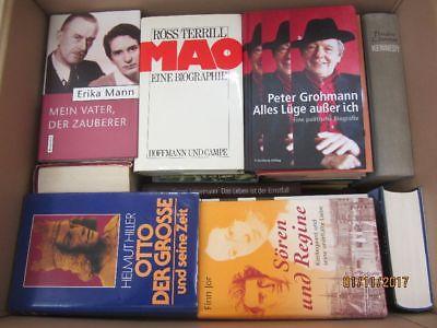 38 Bücher Biografie Biographie Memoiren Autobiografie Lebenserinnerung