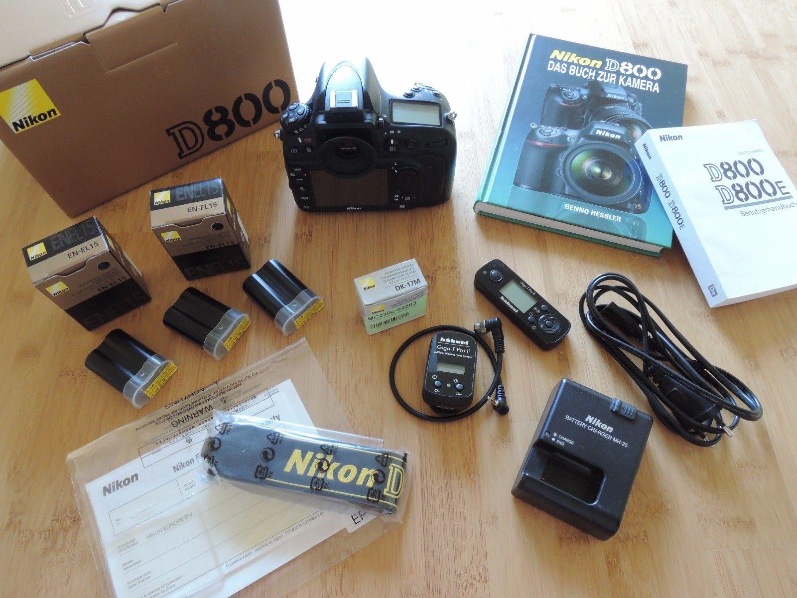 Nikon D800 - in OVP mit nur 22 tsd. Auslösungen ! und Extras - Sehr gepflegt !