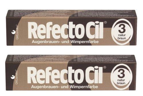 2er Set: Refectocil Augenbrauen & Wimpernfarbe 3 naturbraun 15ml
