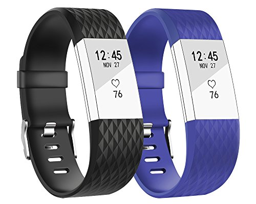 Fitbit Charge HR Cover, BeneStellar (10 Pack) Armband Cover für Fitbit Charge / Fitbit Charge HR Schlanke Designer Sleeve Band Abdeck (2 Pack color 1, Small(5.7