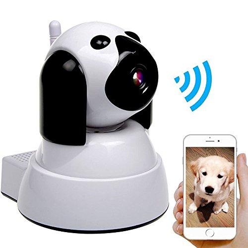 IP Kamera, Wireless WiFi Kamera 720P HD Überwachungskamera Hund IP Cam mit 355°/120°Schwenkbar, Bewegungsmelder, Nachtsicht, Fernbedienung