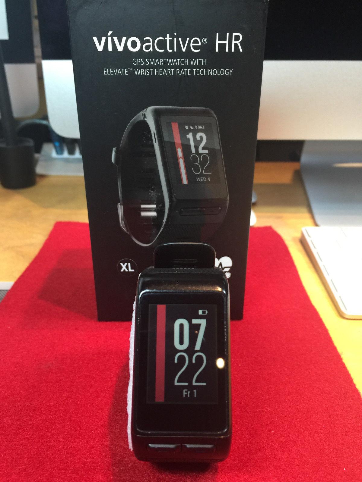 GARMIN Vivoactive HR XL Sport-GPS-Smartwatch mit Herzfrequenzmessung