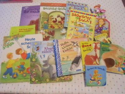Bücher Paket Kleinkind 14x Bilderbuch Fühbuch erste Bücher Klappenbuch top