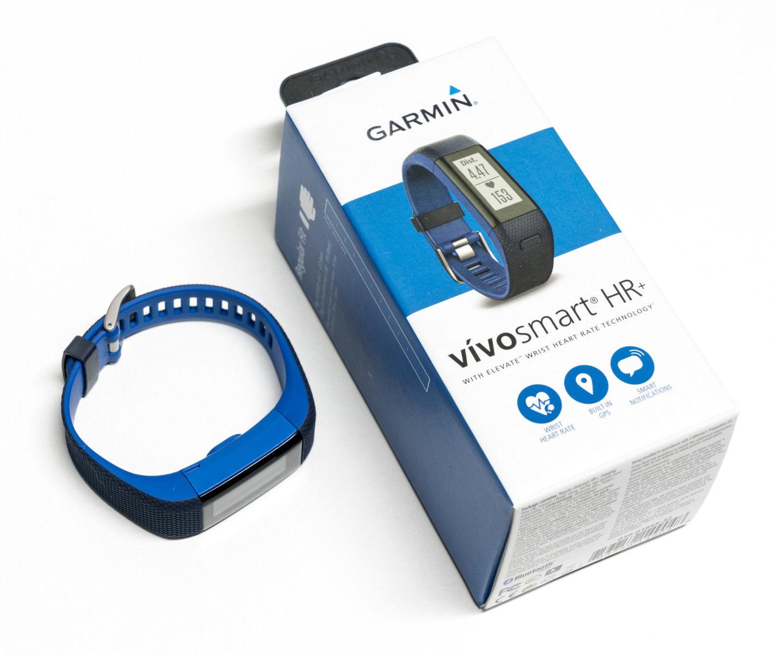 Garmin Vivosmart HR+ Fitnesstracker GPS Uhr  Gr. M Blau Herzfrequenzmessung