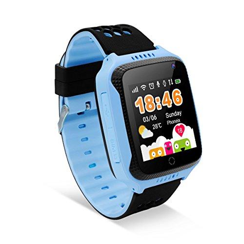 DIGGRO - Kinder Smartuhr GPS Tracker Smartwatch mit 1.44 Zoll Touchscreen Kamera 2G SIM Anrufe Sprachchat Anti-verloren SOS Kindersicherheit-Fernüberwachung Gesundheit-Assistent für Android IOS