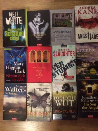 22 x Bücher Krimis Thriller Sammlung konvolut Bücherpaket