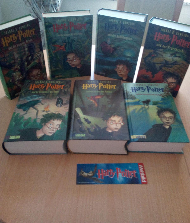 Harry Potter Bücher, gebunden, Band 1-7, sehr gut erhalten