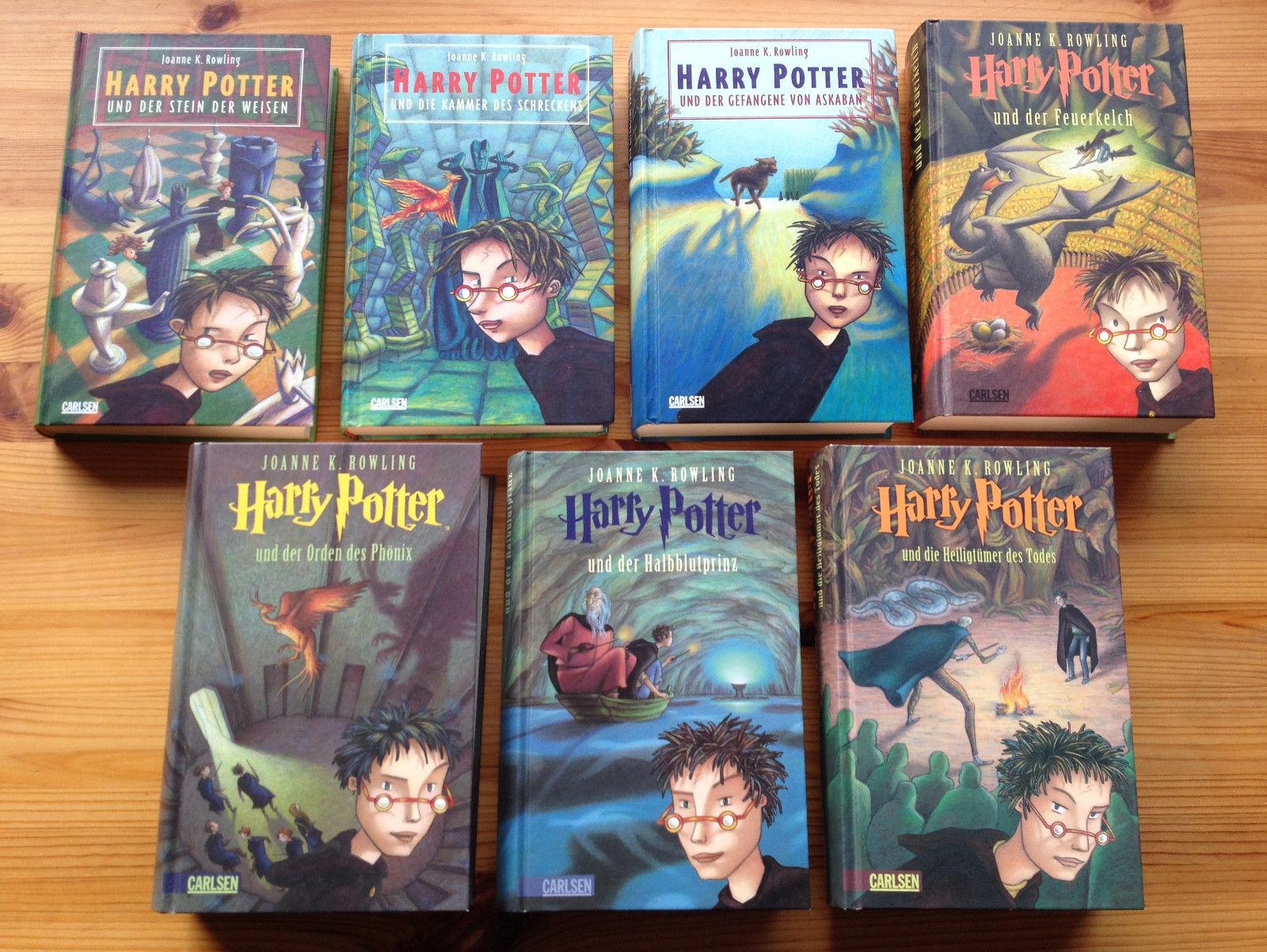 Harry Potter | Band 1-7 komplett | Gebundene deutsche Ausgabe | J.K. Rowling