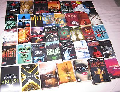 top 40x THRILLER Psychothriller Bestseller Romane Bücherpaket Bücher Sammlung!!!